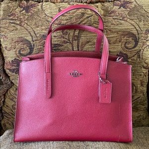 Authentic Coach Charlie Carryall in Pebble Leather